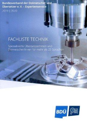 FACHLISTE TECHNIK